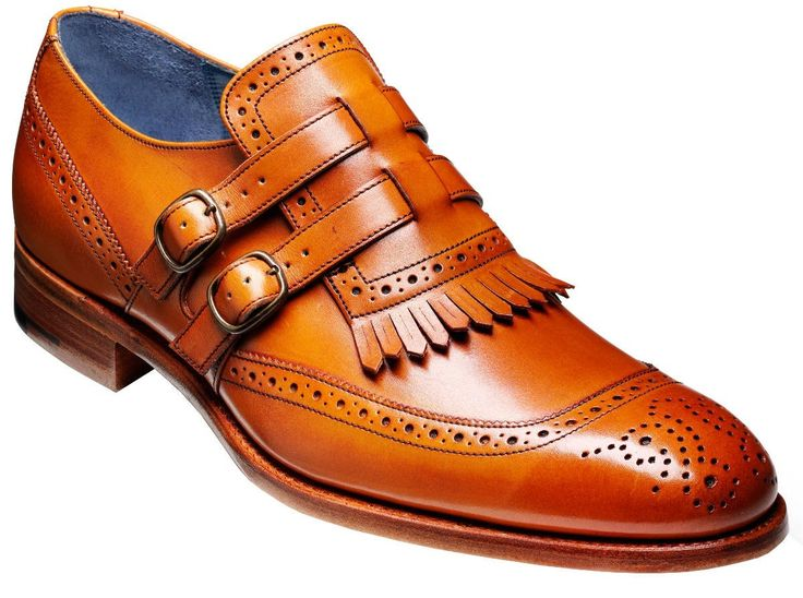 Barker Shoes - Robbins Cedar Calf - Twin Strap Brogue
