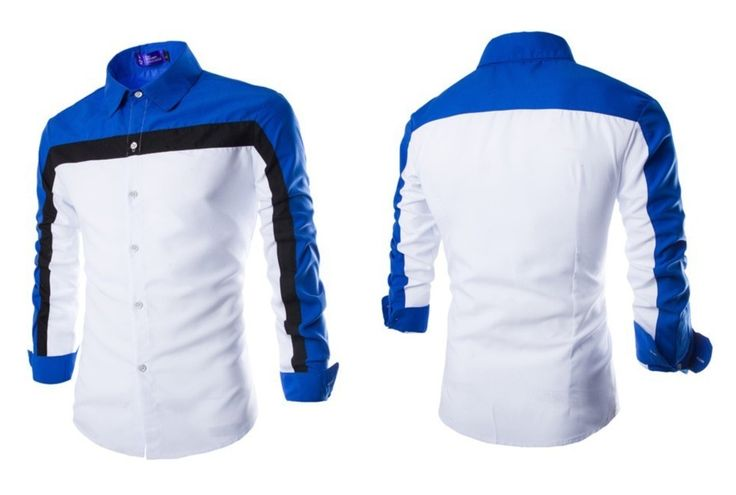 Camisa Casual Fashion Slim Fit em Três Cores - Branca