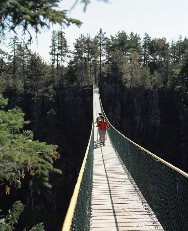 Eagle Canyon bridge, Thunder Bay, Ontario, Canada photo
