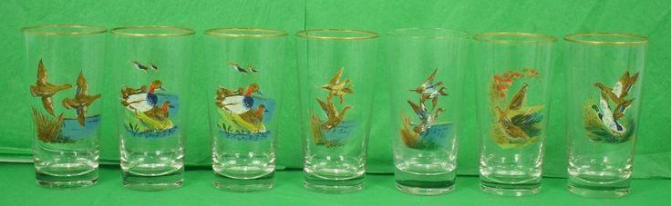 Set of (7) Gamebird Highball Glasses
