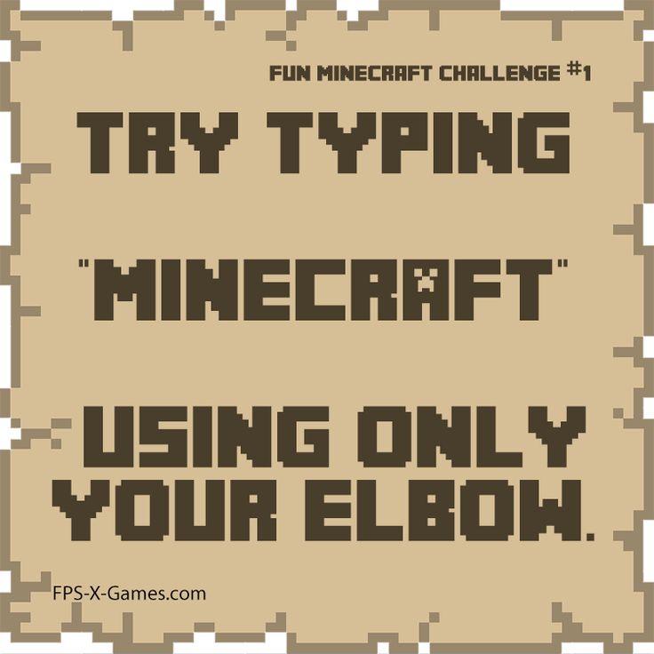 Fun Minecraft challenge 1 - Type Minecraft with your elbow #minecraft #funminecraftchallenge