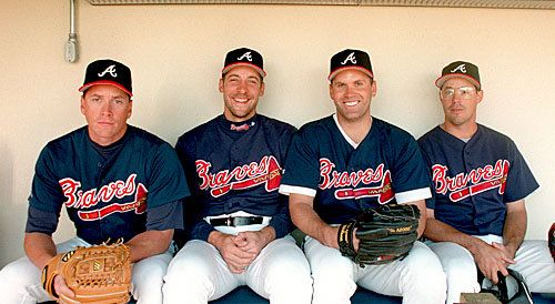 Tom Glavine, John Smoltz, Denny Neagle, Greg Maddux,   The pitching masters of the 90's