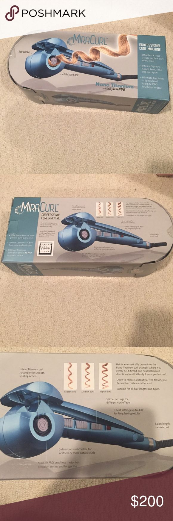 ‼️NWT MiraCurl Automatic Curler/Curling Iron‼️ NWT Automatic Curler! In perfect condition and just dying to be used. Box's stickers peeled off but product has never been used. OPEN TO OFFERS BaByliss Other