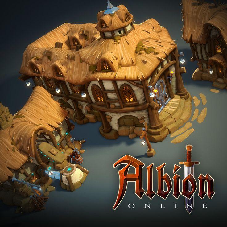 Albion Online : Townhalls 3d Assets, Airborn Studios on ArtStation at https://www.artstation.com/artwork/yl6kQ
