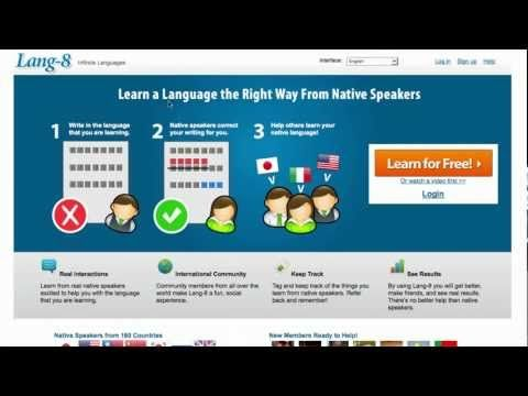 Lang-8 site: language learning platform where native speakers correct what you write