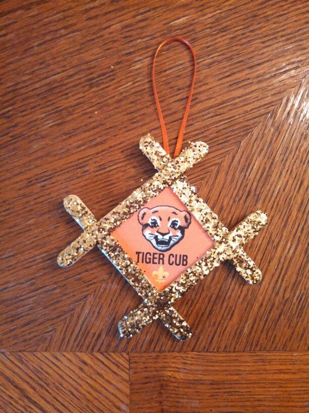 Tiger Cub Christmas Ornament Craft