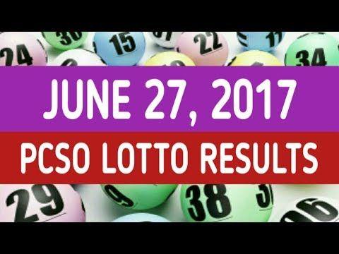 PCSO Lotto Results June 27, 2017 (EZ2, Swertres, 6D, 6/42, 6/49 & 6/58) - http://LIFEWAYSVILLAGE.COM/lottery-lotto/pcso-lotto-results-june-27-2017-ez2-swertres-6d-642-649-658/