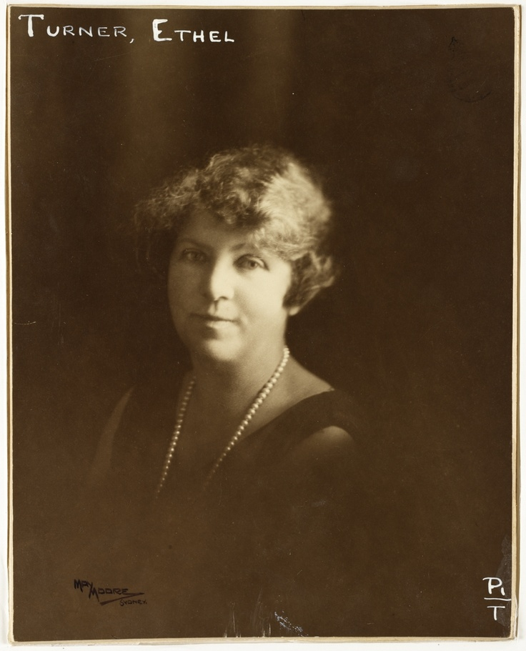 """Ethel Turner, Australian author of """"Seven Little Australians"""" / photographic portrait dated 1927 by May Moore, Sydney.  Find more detailed information about this photograph:  http://acms.sl.nsw.gov.au/item/itemDetailPaged.aspx?itemID=840354  From the collection of the State Library of New South Wales www.sl.nsw.gov.au"""