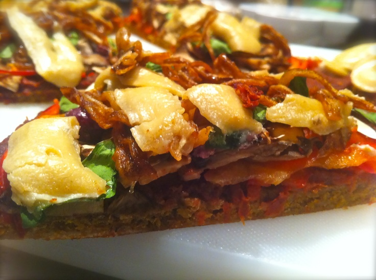 It's hard to believe that Live Pizza full of fresh organic ingredients can look and taste this good......but it does:)