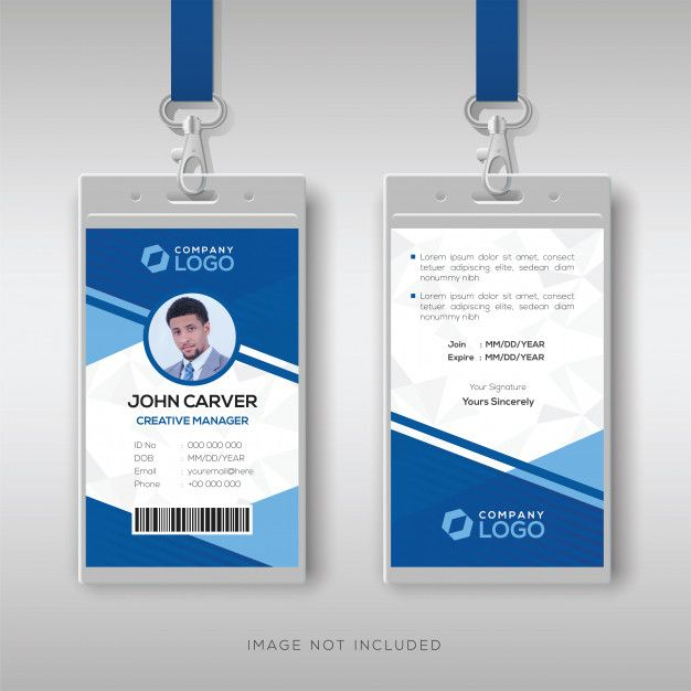 Id Card Template Id Card Template Graphic Design Business Card Identity Card Design