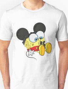 미키 마우스 스폰지 밥 아기 티셔츠
