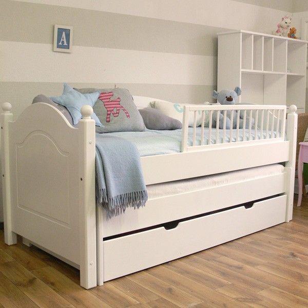 łóżka drewniane białe dla dzieci