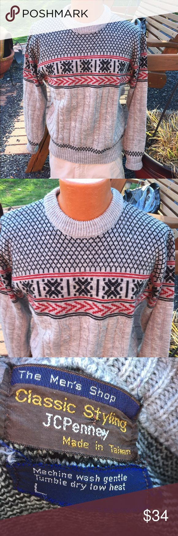 Vintage Throwback JcPenney Mens Christmas Sweater Size large. Super awesome vintage sweater jcpenney Sweaters Crewneck