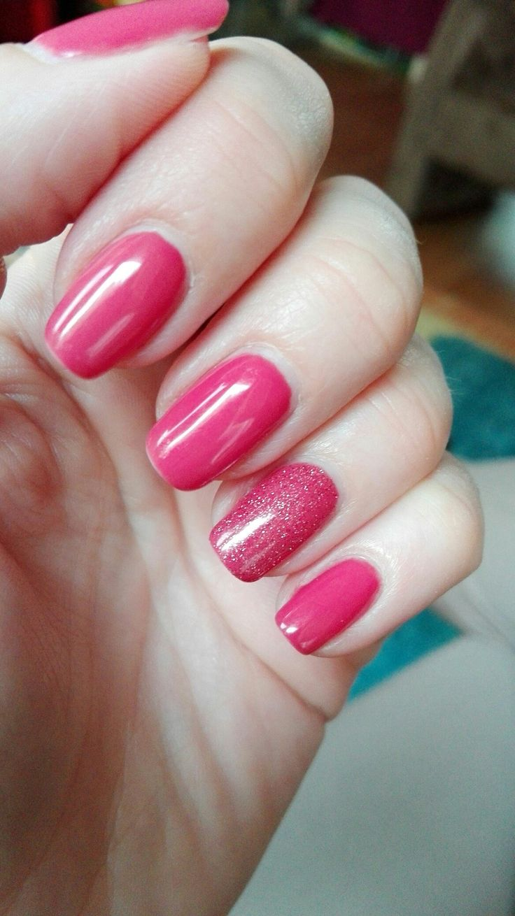 Pink Gellac Coral Red & pink glitter