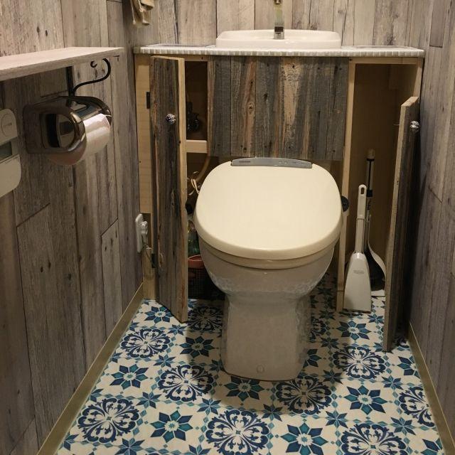 makkunさんの、カフェ風インテリア,ビーチハウス風,カリフォルニア風,リゾートスタイル,DIY,ハンドメイド,マンションですが...,バス/トイレ,のお部屋写真