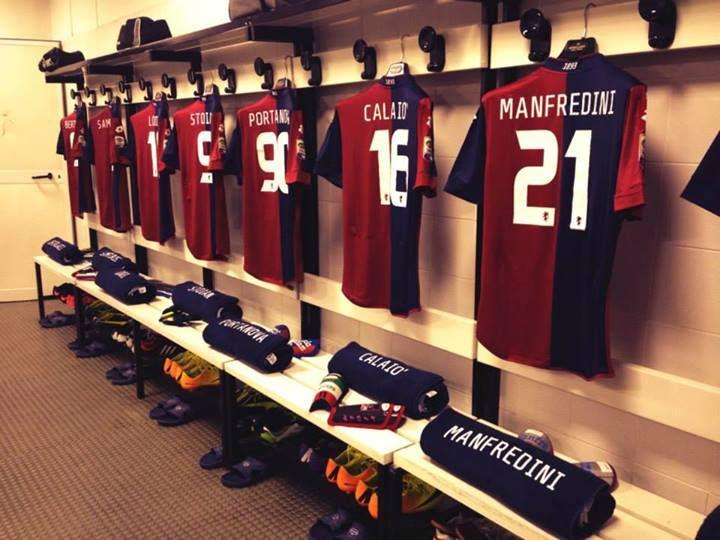Genoa locker room, Serie A 2013/14