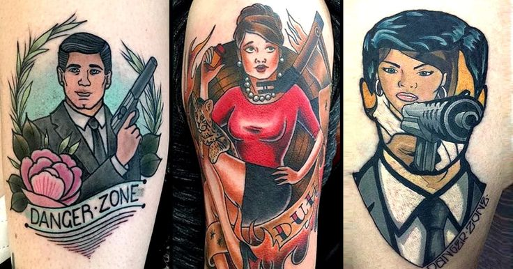 Espionage tattoos don't get any better than Archer tattoos!
