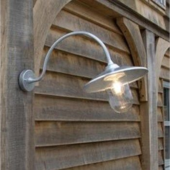 St Ives Outdoor Arched Swan Neck Wall Light