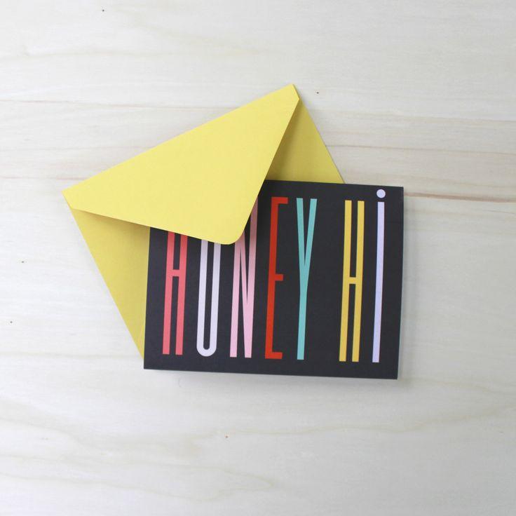 Honey Hi Card / SHIP & SHAPE