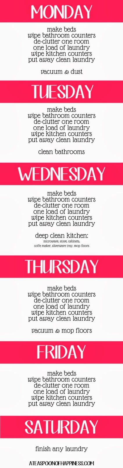 {re}cycled consign and design: Shark Steam & Mop // Cleaning Schedule