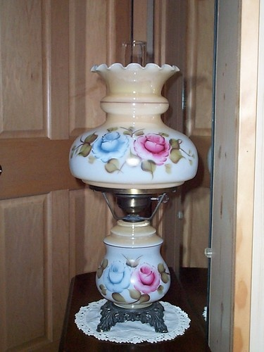 Awesome Beautiful Vintage Hand Painted Gone With The Wind Hurricane Parlor Table  Lamp | EBay