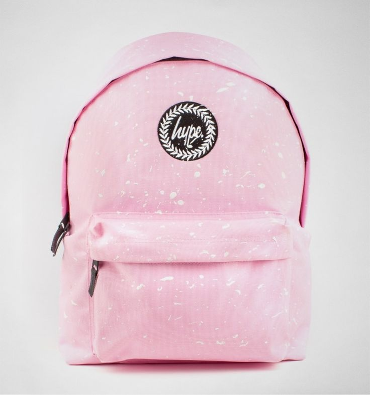 Hype Splat Backpack Baby Pink-White