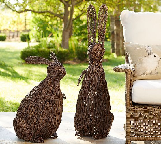 Woven Twig Bunnies Pottery Barn Easter Pinterest