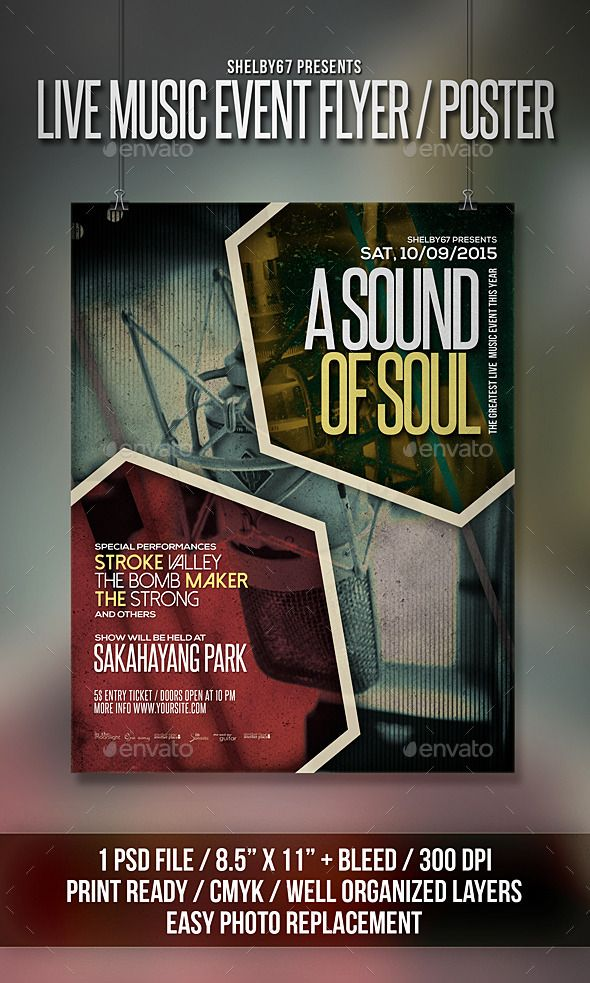 Live Music Event Flyer / Poster | Flyers, Psd templates ...