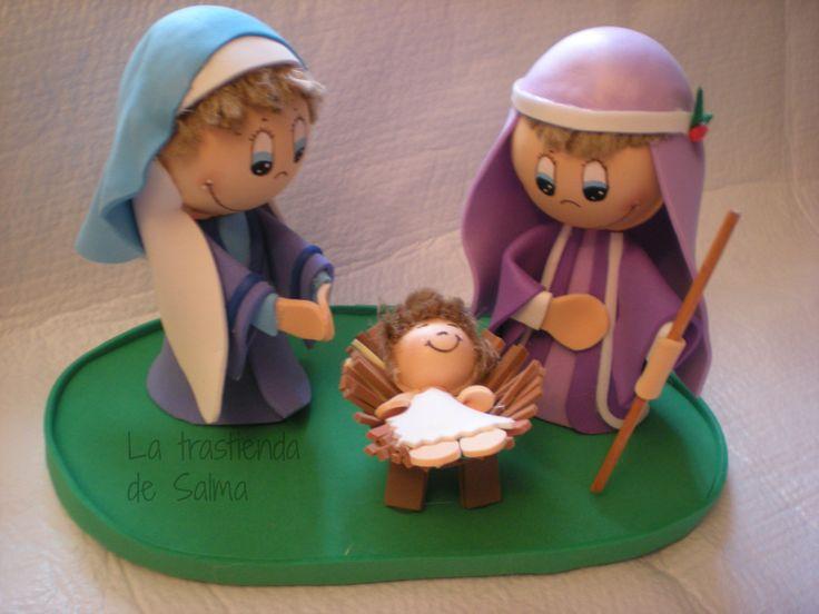 Nacimiento realizado en goma eva. Tamaño: alto: 13cm ancho: 21cm Precio: 17 euros (gastos de envio gratis)