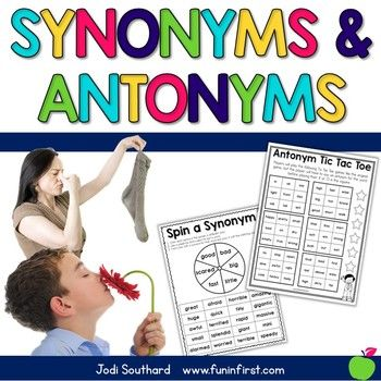 Teaching synonyms and antonyms is an important skill for vocabulary and writing instruction. This packet includes games and centers, anchor charts, an original story to help students remember the difference between synonyms and antonyms, and a variety of other activities. Many of these activities can be used in a whole group or small group setting.
