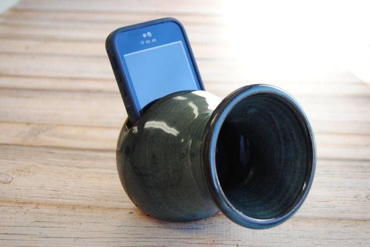 Phone speaker amplifier, iPhone amplifier, Portable speaker, Acoustic amplifier, iPhone speaker, Phone dock, desktop speaker, Gift for him by KindredMade on Etsy https://www.etsy.com/listing/267117512/phone-speaker-amplifier-iphone-amplifier