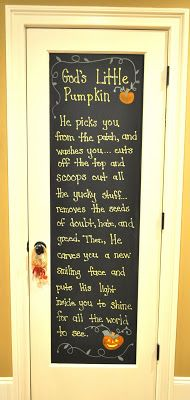 Mustard Seeds: Fall Chalkboard Pantry Door