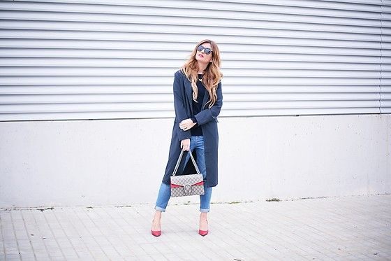 Get this look: http://lb.nu/look/8695089  More looks by A TRENDY LIFE: http://lb.nu/atrendylife  Items in this look:  Zara Jersey, Blanco Jeans, Céline Gafas De Sol, Gucci Bolso, Michael Kors Stilettos   #casual #chic #classic #bluetrench #denim #jeans #stilettos #dionysusbag #zara