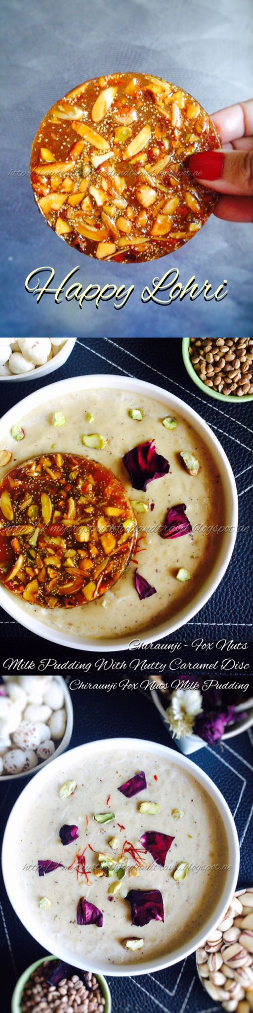 Chironji Makhane Kheer With Mixed Dry Fruit Chikki / Chiraunji Fox Nuts Milk Pudding With Nutty Caramel Disc .   It's time to give your festive sweets a makeover. Try this traditional dessert with an exciting twist to it, which gets your salivary glands on the drive, the moment you lay your eyes on it.   Eating a spoonful of this rich delicious Kheer with the sugary crunch from the nutty caramel bites is a delight beyond words. This dessert is apt for festivities and celebrations because of…