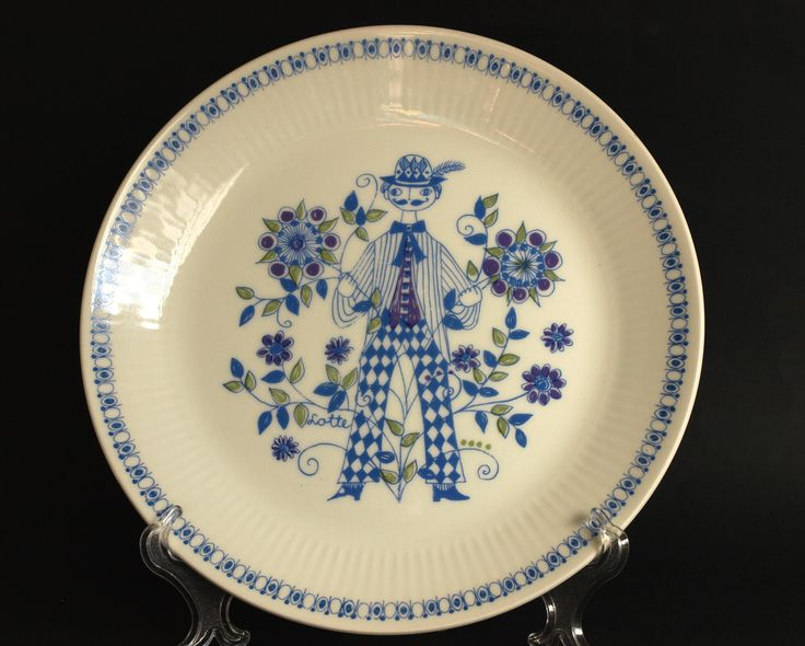 Figgjo Flint Lotte Turi Danish Dinner Plates - Set of 2 Man - Made in Norway - 70s Scandinavian Vintage Dinnerware - New Old Stock by FunkyKoala on Etsy