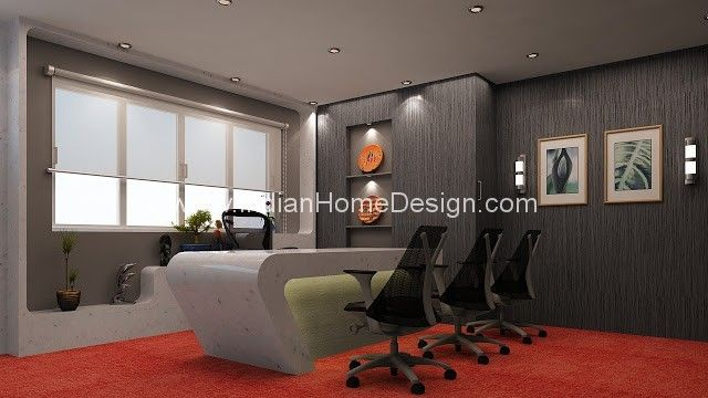 Corporate Office Interior design ideas 3D View