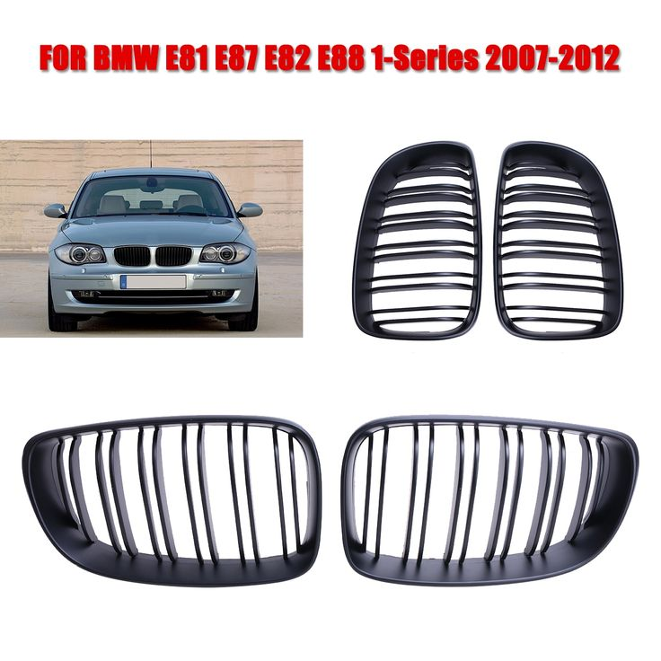 282 Matte Black Front Grill Double Line Grille For Bmw 1 Series