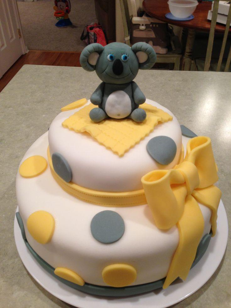 Koala Baby Shower Cake Baby Pinterest Babies Cakes