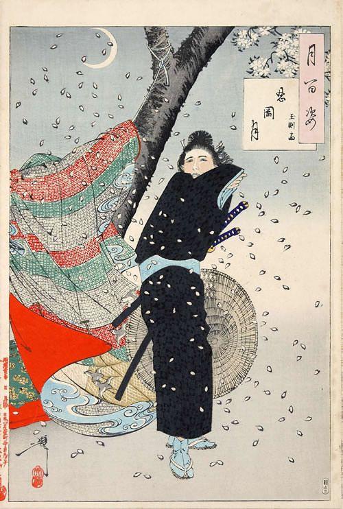 Yoshitoshi Tsukioka.『忍岡月 玉淵斎』(『月百姿』シリーズ、作・月岡芳年)
