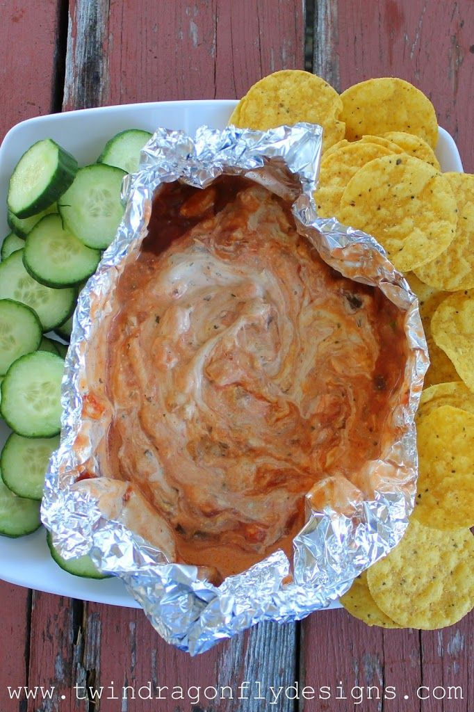Campfire Dip - love this idea for camping!