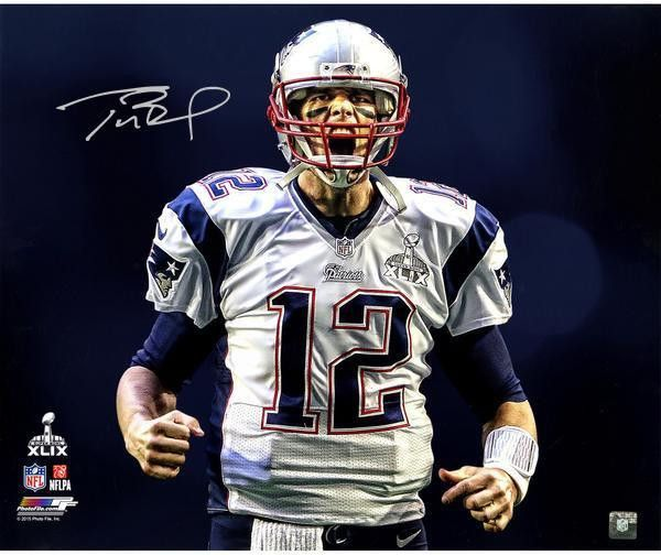 Tom Brady Autographed New England Patriots 20x24 Scream Photo- Steiner Sports Authenticated