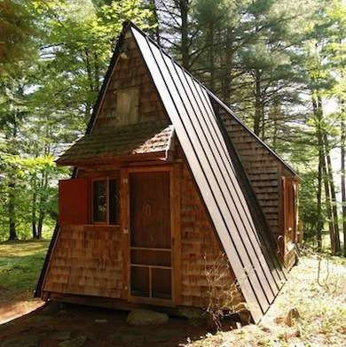 Bob vila house design and small cabins on pinterest for Small a frame home plans
