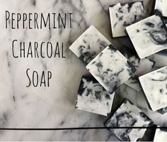Remove impurities from your skin with this charcoal soap. #bulkapothecary #soapmaking #peppermintsoap