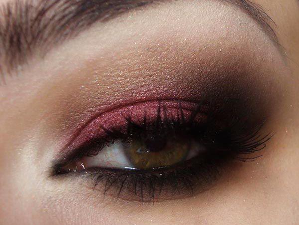 Pausa para Feminices » Arquivos Passo a Passo: maquiagem com sombra vermelha, preta, marrom e dourada