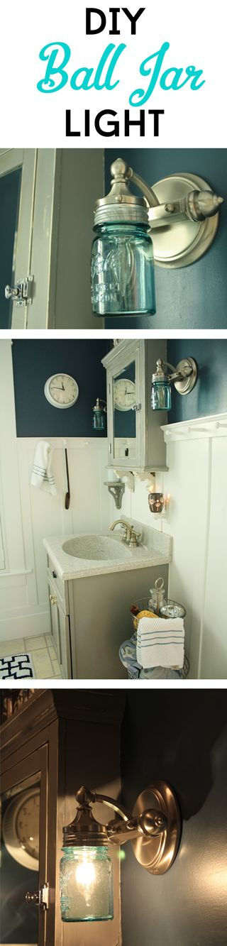 Bathroom Vanity Mason Jar Light best 25+ mason jar lighting ideas that you will like on pinterest