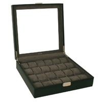Tech Swiss Black Leather Watch Storage Box