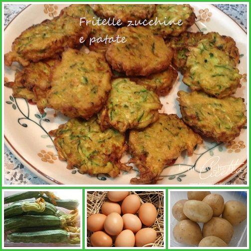 Omeletky z brambor a cukinek (Fritelle di zucchine e patate)