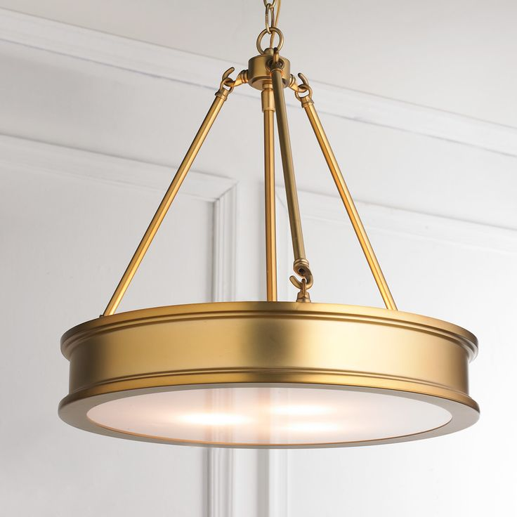 Traditional Urban Hanging Pendant antique_brass