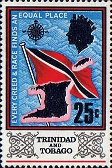 Trinidad and Tobago 1969 SG 348 Flag and Outline Fine Mint Scott 153 Other West Indies and British Commonwealth Stamps HERE!