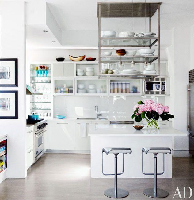 soluciones de para la cocina con estantes